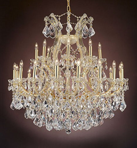 "Maria Theresa Empress Crystal(Tm) Chandelier Lighting H 36"" W 36"" - Cjd-Cg/2181/36"
