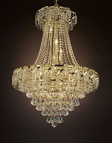 "French Empire Empress Crystal(Tm) Chandelier Lighting H 32"" W 26"" - Cjd-Cg/B7/2173/26"