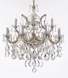 "Swarovski Crystal Trimmed Maria Theresa Chandelier Lights Fixture Pendant Ceiling Lamp Dressed With Large Luxe Crystals H30"" X W28"" - Good For Dining Room Foyer Entryway Family Room And More - F83-B90/Cg/21532/12+1Sw"