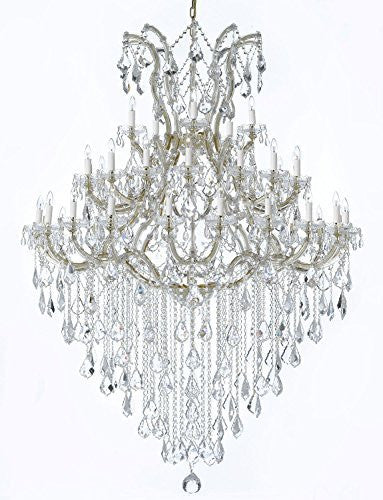 "Large Foyer / Entryway Maria Theresa Empress Crystal (Tm) Chandelier Lighting H 72"" W 52"" - Gb104-Gold/B13/2756/36+1"
