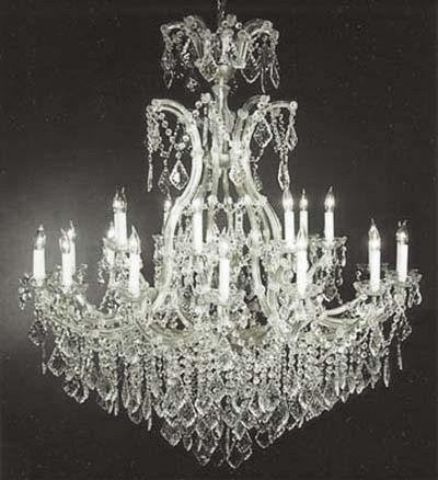 "Large Foyer / Entryway Maria Theresa Empress Crystal (Tm) Chandelier Lighting H 52"" W 46"" - Go-A83-Silver/52/2Mt/24+1"