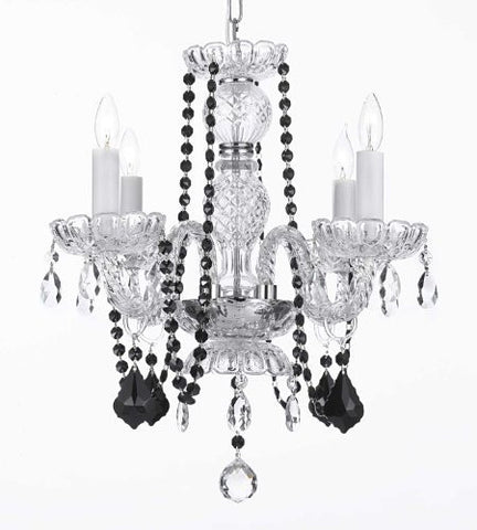 Crystal Chandelier Lighting With Black Color Crystal - A46-Blackb2/275/4