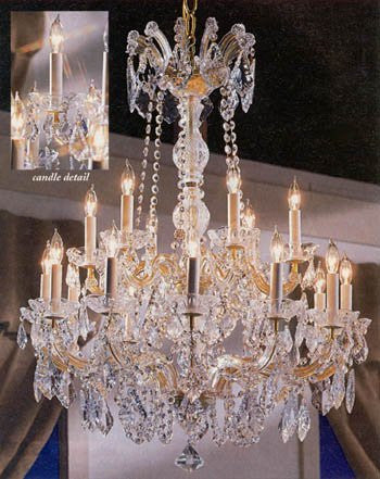 "Maria Theresa Crystal Chandelier W/ Swarovski Crystal Chandeliers Lighting 30""X28"" - A83-152/18Sw"