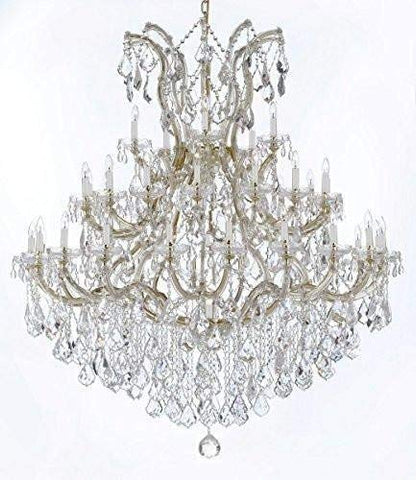 "Large Foyer/Entryway Maria Theresa Empress Crystal (Tm) Chandelier Chandeliers Lighting! H 60"" W 52"" Dressed with Diamond Cut Crystal! - GB104-B12/2756/36+1-DC"