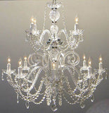 "Petite French Chandelier With Swarovski Crystal H30"" X W28"" - Go-J10-26048/8+4Sw"