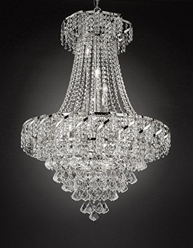 "French Empire Empress Crystal(Tm) Chandelier Lighting H 37"" W 26"" - Cjd- B7/Cs/2173/26"