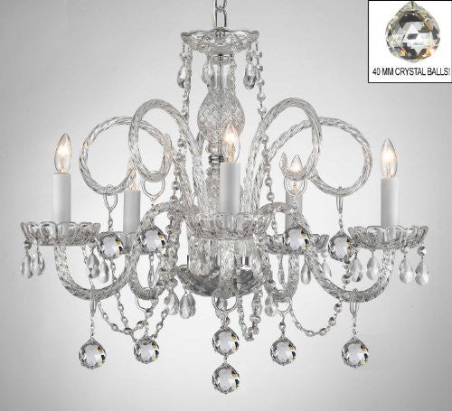 All Crystal Chandelier With Crystal Balls - A46-B6/385/5