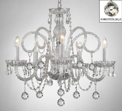 All Crystal Chandelier With Crystal Balls! - A46-B6/385/5