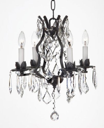 Wrought Iron Crystal Chandelier Lighting - J10-26096/4