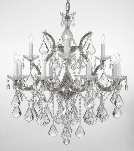 Maria Theresa Chandelier Lighting Trimmed With Spectra (Tm) Crystal - Reliable Crystal Quality By Swarovski - F83-Silver/B7/21532/12+1Sw