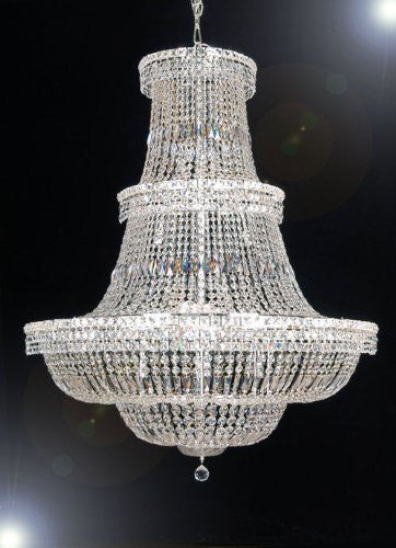 "Swarovski Crystal Trimmed Chandelier French Empire Crystal Chandelier Lighting H66"" W44"" - A93-Cs/454/24Sw"