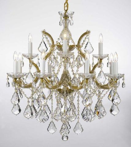 "Maria Theresa Chandelier Lighting Crystal Chandeliers H30 ""X W28"" Trimmed With Spectra (Tm) Crystal - Reliable Crystal Quality By Swarovski - F83-B7/21532/12+1Sw"