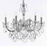 "Maria Theresa Chandelier Lighting Crystal Chandeliers H20 ""X W22"" Chrome Finish Trimmed With Spectratm Crystal - Reliable Crystal Quality By Swarovski - F83-Chrome/2528/6Sw"