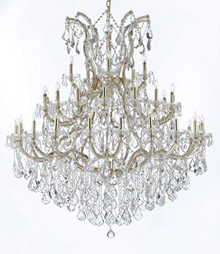 "Maria Theresa Crystal Chandelier Lighting H 60"" W 52"" Trimmed With Spectra (Tm) Crystal - Reliable Crystal Quality By Swarovski - Cjd-Cg/2181/52Sw"