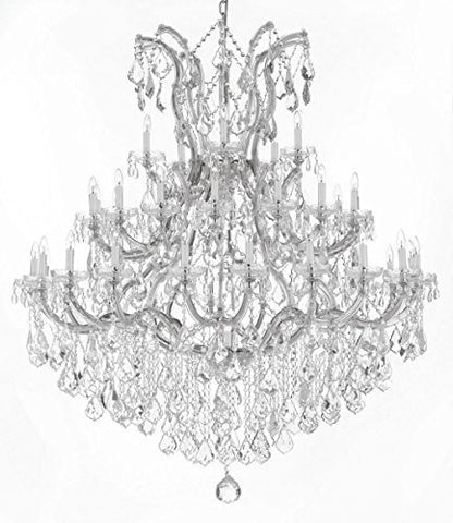 "Large Foyer / Entryway Maria Theresa Empress Crystal (Tm) Chandelier Lighting H 60"" W 52"" - Gb104-Silver/B12/2756/36+1"