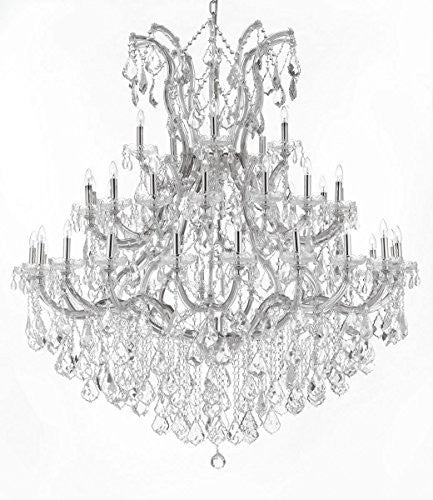 "Maria Theresa Crystal Chandelier Lighting H 60"" W 52"" Trimmed With Spectra (Tm) Crystal - Reliable Crystal Quality By Swarovski - Cjd-Cs/2181/52Sw"