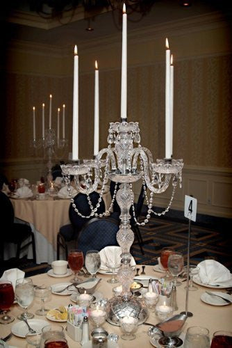Swarovski Crystal Trimmed Chandelier Set Of 10 Wedding Candelabras Candelabra Centerpiece Centerpieces - Great For Special Events - Set Of 10 - G46-Candle/536/5Sw-Set Of 10