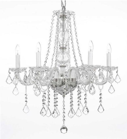 "Crystal Chandelier Lighting H25"" X W24"" - G46-B26/384/5"