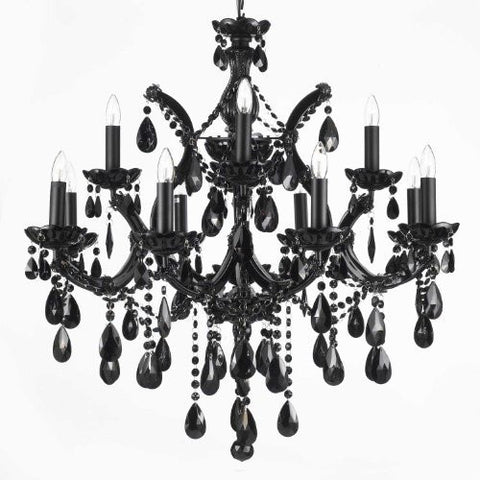 Maria theresa gallery chandeliers jet black chandelier crystal lighting 30x28 a83 black21532121 mozeypictures Image collections