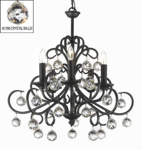 Bellora Crystal Wrought Iron Chandelier Lighting With