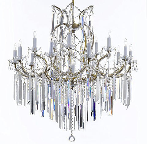 "Maria Theresa Chandelier Empress Crystal (Tm) Lighting Chandeliers With Optical Quality Fringe Prisms H38"" X W37"" - A83-B40/21510/15+1"