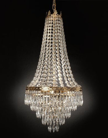 "French Empire Crystal Chandelier Lighting Empress Crystal (Tm) H30"" X W17"" - Go-J10-CG/26026/4"
