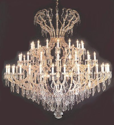 "Large Foyer / Entryway Maria Theresa Chandelier Crystals Empress Crystal (Tm) Lighting H82"" X W84"" - J10-26045/64+8"