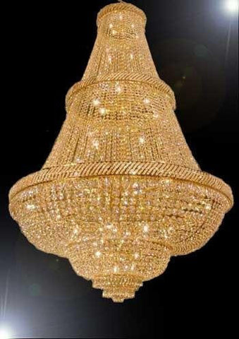 "Asfour Crystal Chandelier French Empire Crystal Chandeliers Lighting H72"" X W50"" - Dressed With High Quality Asfour Crystal - Perfect For An Entryway Or Foyer - A93-B60/Cg/448/48"