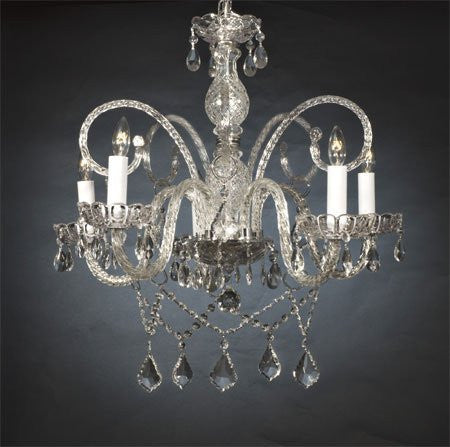 "New Authentic All Crystal Chandelier H25"" X W24"" - Go-A46-386/5"