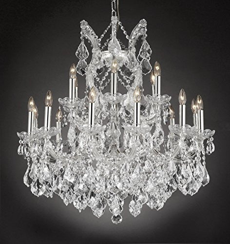 "Maria Theresa Empress Crystal(Tm) Chandelier Lighting H 28"" W 30"" - Cjd-Cs/2181/30"