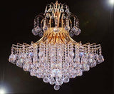 "Swarovski Crystal Trimmed Chandelier Chandelier Lighting Dressed W/ Swarovski Crystal H30"" X W24"" - J10-CG/26055/9Sw"