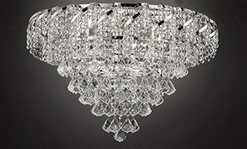 "French Empire Empress Crystal(Tm) Flush Chandelier Lighting H 18"" W 26"" - Cjd-Flush/B7/Cs/2173/26"