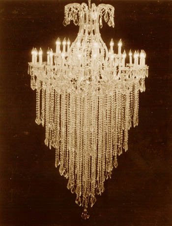 "Large Foyer / Entryway Maria Theresa Chandelier Crystals Empress Crystal (Tm) Lighting H72"" X W46"" - A83-Silver/22Mt/24+1"