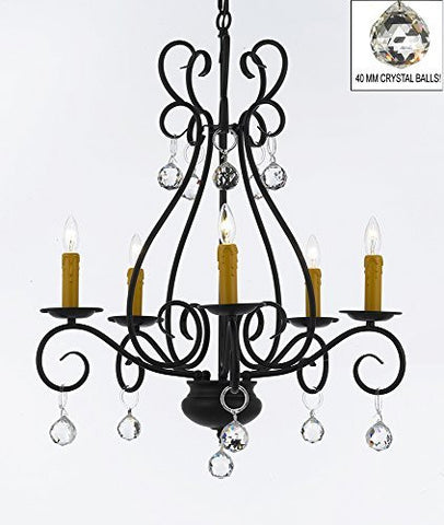 "Wrought Iron Chandelier Crystal Lighting Empress Crystal (Tm) Chandeliers H25.5"" W25.5"" - P7-B6/441/5"