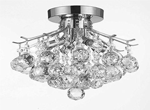 "French Empire Crystal Chandelier Lighting H8"" X W12"" - J10-Cs/26061/4"