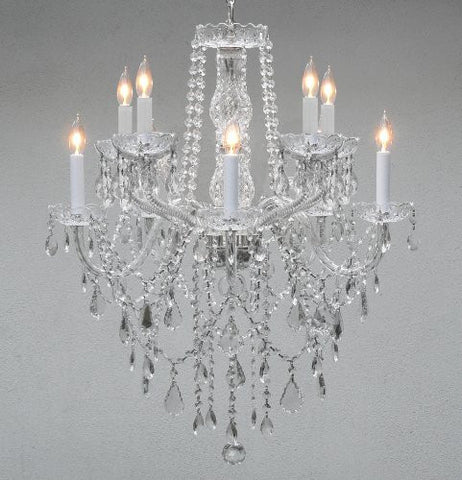 "Chandelier Lighting Crystal Chandeliers H 30"" W 24"" 10 Lights - G46-B13/1122/5+5"