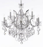 "Maria Theresa Chandelier Lighting Crystal Chandeliers H30 ""X W28"" Trimmed With Spectra (Tm) Crystal - Reliable Crystal Quality By Swarovski Chrome Finish - F83-B7/Chrome/2527/12+1Sw"
