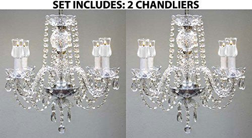 Set Of 2 - Chandeliers Lighting W/ Votive Candles H 17 For Indoor / Outdoor Use Great For Outdoor Events Hang From Trees / Gazebo / Pergola / Porch / Patio / Tent - 2Ea G46-B31/275/4