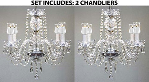 Set Of 2 - Chandeliers Lighting W/ Votive Candles! H 17! For Indoor / Outdoor Use! Great For Outdoor Events, Hang From Trees / Gazebo / Pergola / Porch / Patio / Tent ! - 2Ea G46-B31/275/4
