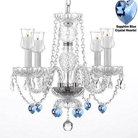 "Crystal Chandelier Lighting Chandeliers W/ Candle Votives H17"" W17"" - For Indoor / Outdoor Use! Great For Outdoor Events, Hang From Trees / Gazebo / Pergola / Porch / Patio / Tent ! - G46-B31/B85/275/4"