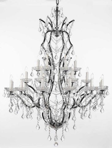 "Nineteenth C. Rococo Iron & Crystal Chandelier Lighting H 52"" X W 41"" - A83-996/25"