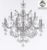 "Maria Theresa Chandelier Lighting Crystal Chandeliers H 30"" X W 28"" Chrome Finish Dressed With Crystal Balls Trimmed With Spectratm Crystal - Reliable Crystal Quality By Swarovski - J10-B6/Chrome/26049/12+1Sw"