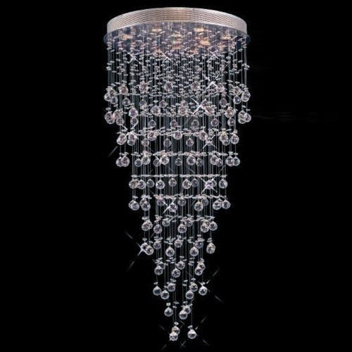 Modern contemporary chandelier rain drop chandeliers lighting with crystal balls w 36 x h