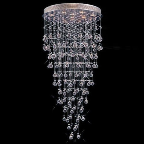 "Modern Contemporary Chandelier ""Rain Drop"" Chandeliers Lighting With Crystal Balls W 36"" X H 90"" - F93-815/22"
