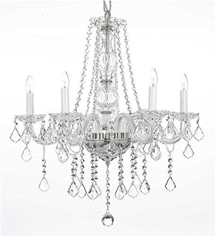 "Swarovski Crystal Trimmed Chandelier! Crystal Chandelier Lighting H25"" X W24"" - G46-B26/384/5 Sw"