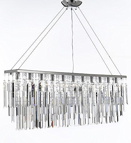 "Chandelier With Empress Crystal (Tm) Modern Contemporary ""Rain Drop"" Chandeliers Billiard Pool Table Light Lighting With Crystal Icicles - F7-B40/926/11"