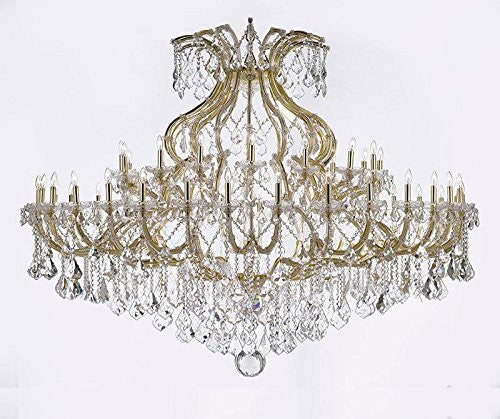 "Maria Theresa Crystal Chandelier H 48"" W 72"" Trimmed With Spectra Tm Crystal - Reliable Crystal Quality By Swarovski - Cjd-B62/Cg/2181/72/Sw"