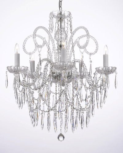 All Crystal Chandelier W/ Crystal Icicles - G46-B27/3/385/5