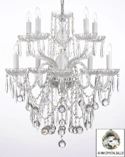 All Crystal Chandelier With 40Mm Crystal Balls And Crystal Icicles - G46-B29/B13/1122/5+5