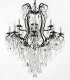 Wrought Iron Chandeliers Lighting Spectra (Tm) Crystal- Crystal Quality Swarovski - F83-B12/3034/8+4Sw
